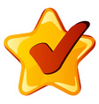 yellow checkmark star vector image