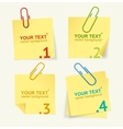 yellow paper option banner vector image