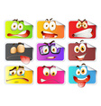 Sticker with facial expressions vector image