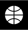 basketball ball white color icon vector image