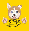 dog symbol of the new year vector image