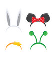 hoop on head set ears animals vector image