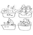 kids bath contour vector image