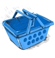 Supermarket food basket vector image