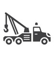 tow truck glyph icon transport and vehicle vector image