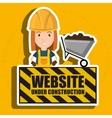 woman website under construction avatar vector image