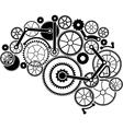 gear brain vector image