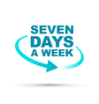 seven days blue vector image vector image