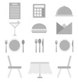 Restaurant icons on white background vector image