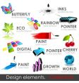 design elements collection vector image vector image