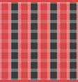 seamless tartan pattern red and grey kilt fabric vector image