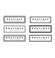Beautiful Creative Borders Design Template Set For vector image