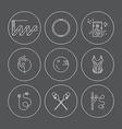 Rhythmic Gymnastics Icon Set vector image