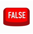 False red button icon simple style vector image