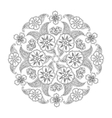 Mendie Mandala with flowers and leaves vector image