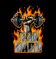 bodybuilding motivation poster vector image