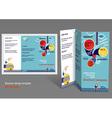 Brochure booklet z-fold layout Editable design vector image