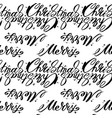 christmas words seamless pattern merry christmas vector image