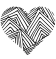 doodle heart shaped 3 vector image