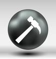 hammer icon button logo symbol concept vector image