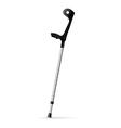 Metal crutch vector image