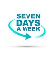 seven days blue vector image