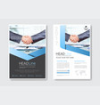template design brochure set annual report vector image