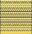 yellow black police tape set isolated vector image
