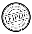 Leipzig stamp rubber grunge vector image