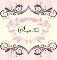 pink vintage floral ornate frame vector image vector image