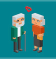 3d isometric family couple people concept flat vector image