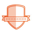 shield with ribbon isolated icon vector image