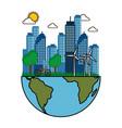 eco friendly city vector image