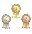 award ribbons vector image