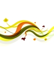 Abstract background  spring wave vector image vector image