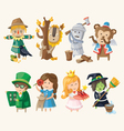 Set of toy personages vector image