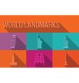 World landmarks famous buildings Europe America vector image