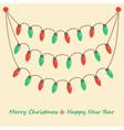 party christmas light bulbs vector image