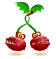 genetically modified cherry vector image vector image