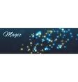 Magic background shining stars vector image