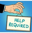 Hand sign help required vector image vector image