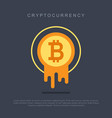 bitcoin concept cryptocurrency logo sigh vector image