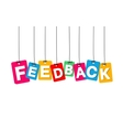 colorful hanging cardboard Tags - feedback vector image