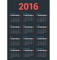 Design Print Template Poster Calendar for 2016 vector image