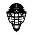 hockey helmet icon vector image