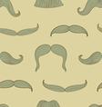 Mustache pattern vector image