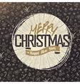 Retro Merry Christmas Card Design Christmas vector image