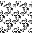 Seamless pattern with fish vector image