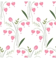 Seamless pattern with stylized cute red flowers vector image
