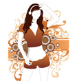 sexy sporty girl vector image